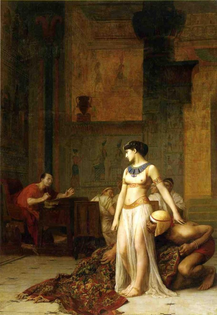 Cleopatra by Jean-Leon-Gerome : Wiki Commons