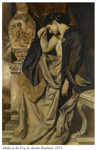 Medea at the Urn, by Anselm Feuerbach, 1873