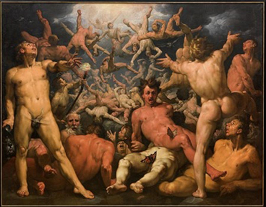 The Fall of the Titans by Cornelis Cornelisz van Haarlem (1596–1598) ( Public Domain )